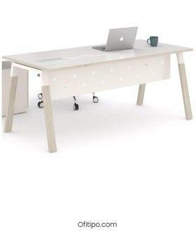 Mesa-despacho-Pasam-roble-blanco-canto-blanco-ofitipo 4