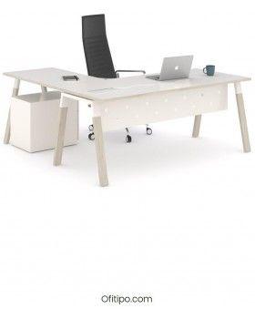 Mesa-despacho-Pasam-en-l-roble-blanco-canto-blanco-ofitipo 4