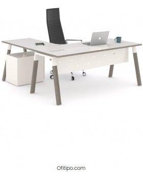 Mesa-despacho-Pasam-en-L-ceniza-blanco-canto-blanco-ofitipo 6