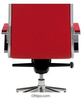 Silla de despacho roja ofitipo 3