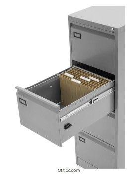 Archivador de oficina gris cajón abierto Veneur, ofitipo 3