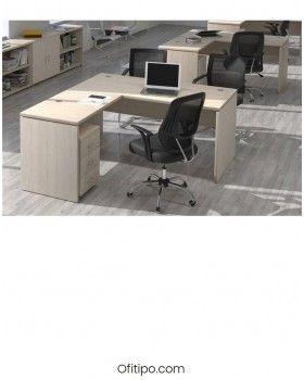 Mesa operativa oficina Colpa en L ofitipo 8