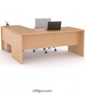 Mesa operativa oficina Colpa en L ofitipo 6