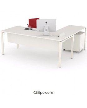 Mesa oficina operativa Eupor en L ofitipo 4