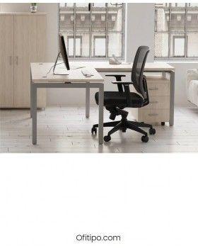 Mesa oficina operativa Eupor en L ofitipo 3