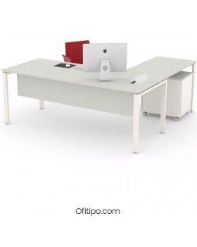 Mesa oficina operativa Eupor en L ofitipo 6