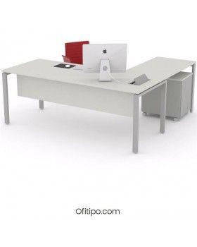 Mesa oficina operativa Eupor en L ofitipo 8