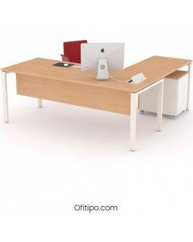 Mesa oficina operativa Eupor en L ofitipo 1