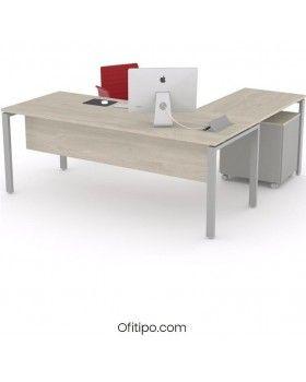Mesa oficina operativa Eupor en L ofitipo 11