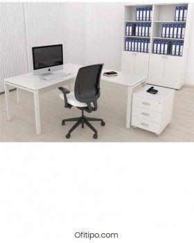 Mesa oficina operativa Eupor en L ofitipo 2
