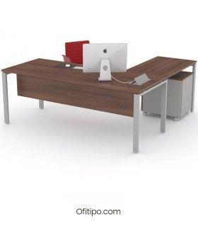 Mesa oficina operativa Eupor en L ofitipo 13