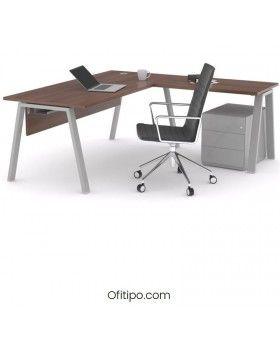 Mesa oficina operativa Komat en L ofitipo 6