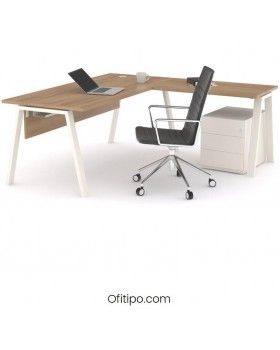 Mesa oficina operativa Komat en L ofitipo 1