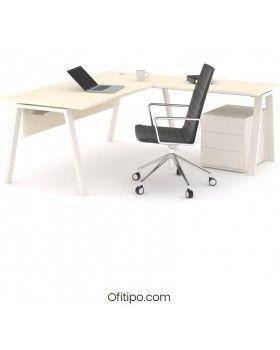 Mesa oficina operativa Komat en L ofitipo 11