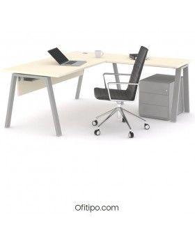 Mesa oficina operativa Komat en L ofitipo 12
