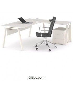 Mesa oficina operativa Komat en L ofitipo 4