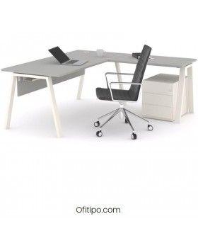 Mesa oficina operativa Komat en L ofitipo 16