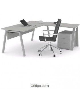 Mesa oficina operativa Komat en L ofitipo 17