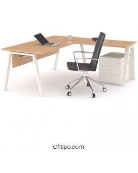 Mesa oficina operativa Komat en L ofitipo 9