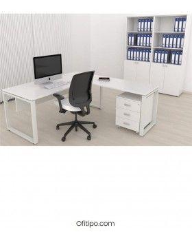 Mesa oficina operativa Kubal en L ofitipo 2
