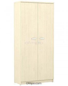 Armario de madera alto Emese con puertas ofitipo 9