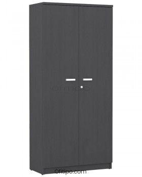 Armario de madera alto Emese con puertas ofitipo 8