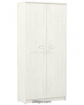 Armario de madera alto Emese con puertas ofitipo 4