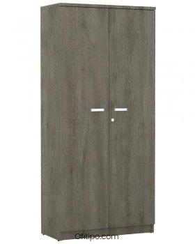 Armario de madera alto Emese con puertas ofitipo 7
