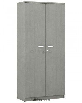 Armario de madera alto Emese con puertas ofitipo 10