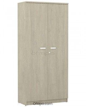 Armario de madera alto Emese con puertas ofitipo 2