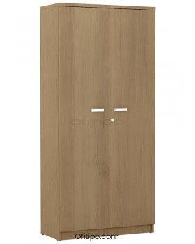 Armario de madera alto Emese con puertas ofitipo 6