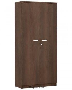 Armario de madera alto Emese con puertas ofitipo 3