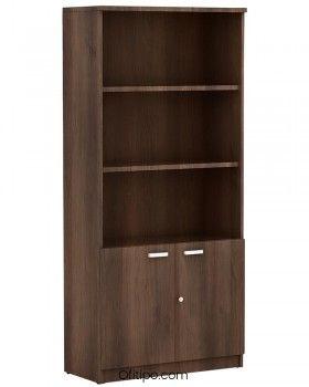 Armario de madera alto Emese con puertas bajas ofitipo 2