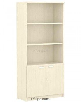 Armario de madera alto Emese con puertas bajas ofitipo 5