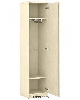 Armario de madera alto Emese estrecho con puerta ofitipo 1