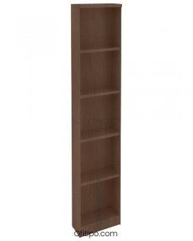 Armario de madera alto Emese estrecho sin puerta ofitipo 3