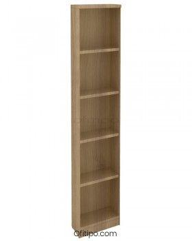 Armario de madera alto Emese estrecho sin puerta ofitipo 4