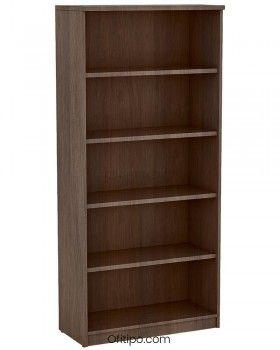 Armario estantería de madera alto Emese sin puertas ofitipo 3