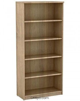 Armario de madera alto Emese sin puertas ofitipo 4