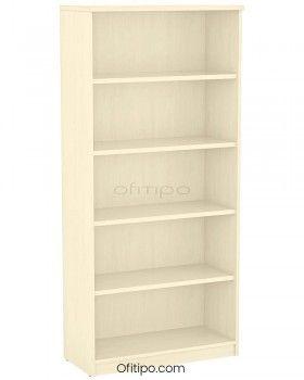 Armario estantería de madera alto Emese sin puertas ofitipo 6