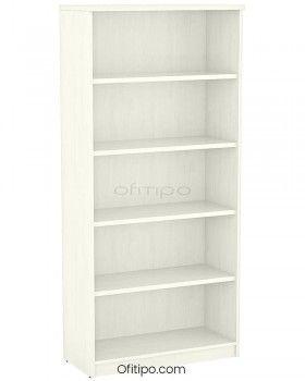 Armario estantería de madera alto Emese sin puertas ofitipo 1