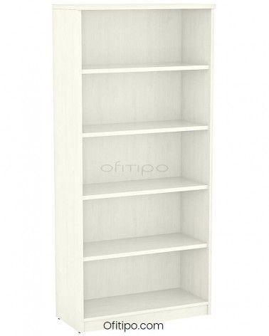 Armario estantería de madera alto Emese sin puertas