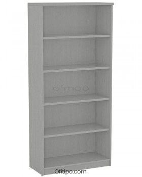 Armario estantería de madera alto Emese sin puertas ofitipo 9