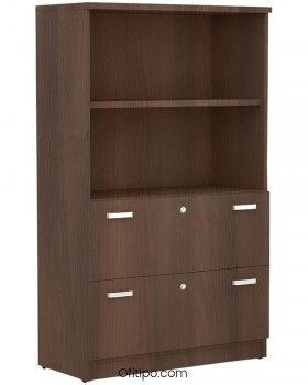 Armario de madera mediano Emese con cajones archivador ofitipo 2
