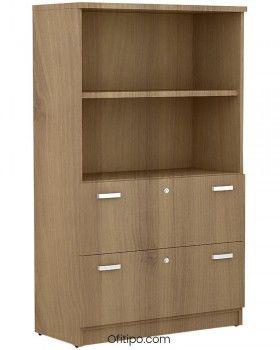 Armario de madera mediano Emese con cajones archivador ofitipo 3