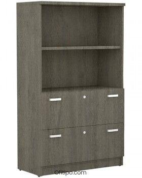 Armario de madera mediano Emese con cajones archivador ofitipo 6