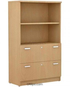 Armario de madera mediano Emese con cajones archivador ofitipo 8