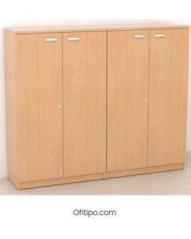 Armario de madera mediano Emese con puertas ofitipo 3