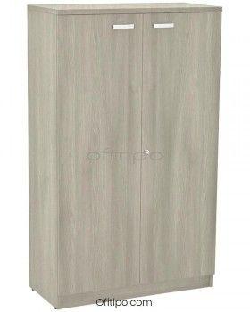 Armario de madera mediano Emese con puertas ofitipo 4