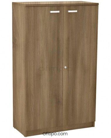 Armario de madera mediano Emese con puertas